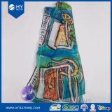 Design personalizado impresso digital mulheres lenço Chiffon de seda