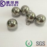 19mm 25mm 50mm Bola de acero inoxidable con un lazo pequeño para conectar el balón a una cadena