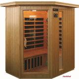 Sauna di Infrared personalizzata la gente Corona svedese-G di sauna 3 di Cornor della baracca di massaggio di sauna della famiglia