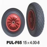 15*4.00-8 PU Pneu Wheelbarrow Expandido