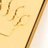 Tiro della chiusura lampo dell'oro di modo di alta qualità per le chiusure lampo