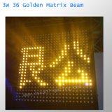 свет 36PCS СИД луча матрицы 3W СИД золотистый