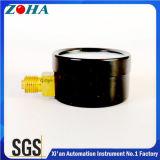 Calibre pneumático do calibre de ar com caixa de aço preto Dial de escala dupla Três cores para aviso