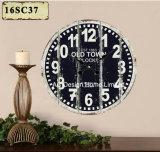 Vintage antigüedades decoración antigua y elegante diseño de tiempo de madera MDF de reloj de pared de la etiqueta de papel de impresión