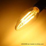 E14 6W Blanc Chaud blanc pur COB Edison Ampoule à filament Bougie lumière LED AC 110V