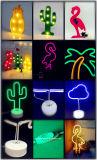SCHREIBTISCH-Tisch-Licht-Flamingo-Ananas-Kaktus-Nacht LED-Modeing beleuchtet Neondas 8 Art-Festzelt für Baby-Schlafzimmer-Weihnachtsdekoration