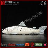 Brinquedo macio Salmon Lifelike dos peixes do animal enchido de salmões atlânticos do luxuoso