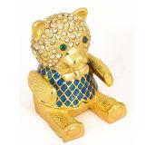 Boîte de bijoux d'ours, boîte de bijoux en métal, boîte de bibelot (236)