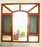 Finestra di legno di alluminio di vetro del doppio piacevole di disegno