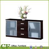 Armario de almacenamiento de la Oficina Económica Estructura de madera puerta de cristal archivadores