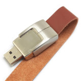 2015 Hotest Cuero Pulsera USB 2.0 Flash Drive de disco de U