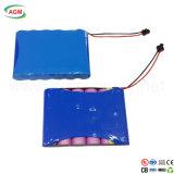 Batteria di ione di litio personalizzata di Icr 18650 1s6p 3.7V 15ah