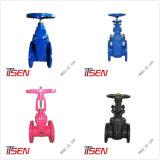 Awwa/DIN/ANSI/Mssp Cast/Ferro Dúctil vários tipos de válvula da tampa de borracha/Metal sentado