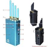 Ordinateur de poche haute puissance de signal brouilleur brouilleurs GPS cinq bandes avec sac militaire de l'emballage, spécialement conçus pour les fréquences de GPS