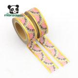 製造者のCmykの印刷のシャクヤクの花の金ホイルのWashi中国のペーパー単一の側面の静止したテープ