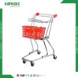 Carrello di acquisto del cestino di due Ttiers per il supermercato