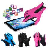 Перчатки застежки -молнии воды водоустойчивых женщин человека перчаток ватки перчаток зимы термально теплых Anti-Slip упорные Anti-Shock