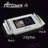 2ペンとの装飾的な入れ墨のデジタル半常置構成機械Artmex V8