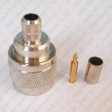 Conector masculino del prensado de N para el enchufe coaxial del RF del cable coaxil de 5D-Fb LMR300 RG6