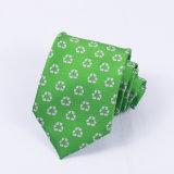 Corbatas de encargo del Mens del telar jacquar de Microfiber del diseño de la insignia