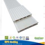 白い灰色の木製のプラスチック合成のDecking、材木のフロアーリング