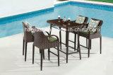 /Rattan ao ar livre/cadeira da barra do Rattan mobília do jardim/pátio/hotel & tabela da barra ajustada (descolamento de HS1629BC &HS7215)