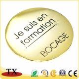 Goldfarben-Leerzeichen-rundes Revers-Abzeichen