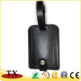 Étiquette en cuir personnalisée bon marché de bagage et étiquette de bagages