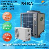 Pompa de calor Titanium del agua 12kw/19kw/35kw/70kw Theromostat de la calefacción para la piscina
