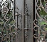 Fabricado na China ao redor da porta de ferro forjado Superior (UID-D095)