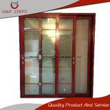 Раздвижная дверь двойной застеклять профиля супер взгляда качества деревянного алюминиевая