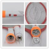 3 strati dell'anti della zanzara racchetta ricaricabile di uccisione con la torcia del LED