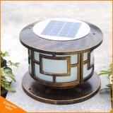 Luz solar da coluna/luz solar do poste de amarração/luz solar do jardim
