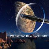 1.591 PC 편평 정점 파란 구획 Hmc 광학 렌즈