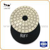 4 pouces de quartz blanc/noir Tampon de polissage de diamants avec Buff Grit