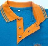 カスタム刺繍のロゴの100%とかされた綿のポロのTシャツ