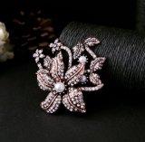 Novo Design Personalizado de jóias Suite Rhinestone Prateado Broche