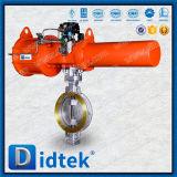 Didtek 세겹 오프셋 웨이퍼 유형 압축 공기를 넣은 나비 벨브