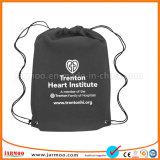 Cordón de algodón negro personalizada bolsos promocionales