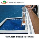 Портативный плавательный бассеин с защитным анти- приложением плетения медуз, раздувной бассеин для яхт