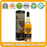 Barattolo di latta quadrato del metallo del whisky per il contenitore impaccante di bottiglia di vino