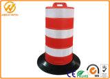 Datenbahn-Straßenrand-Sicherheits-Schwarz-niedrige Plastikverkehrs-Gummitrommel