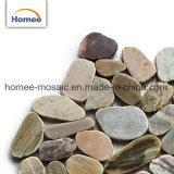 Tegels van het Mozaïek van de Steen van de Kiezelsteen van de Mat van de Tegels van de Vloer van de Kiezelsteen van de Kleur van de mengeling de Goedkope Gesneden Marmeren Openlucht
