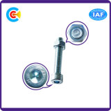 DIN/ANSI/BS/JIS Carbon-Steel 또는 광속 로드 Stainless-Steel 6각형 원통 모양 맨 위 두 배 나사