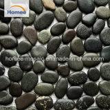 Lavado de Piedras Negras a granel allanar aleatorios de alta calidad natural de Mármol Piedra mosaico de piedra