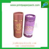Alto contenitore di regalo rotondo stampato colore del cartone del tè di disegno floreale