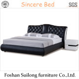 Lb1111 진짜 가죽 현대 침대