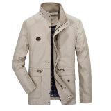 Outdoor casual para homens encapuzados Windbreaker Jacket Casaco Caqui Luz de algodão