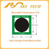 熱によっては温度カラー変更のラベルのステッカーが作動した