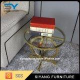 Tabella di tè laterale di vetro di vendita della mobilia calda dell'acciaio inossidabile